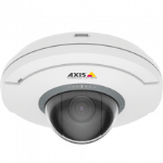 Видеокамера AXIS AXIS M5054 Ceiling-mount mini PTZ dome camera with 5x Optical zoom and autofocusing, HDTV 720p (1280x720) 25/30fps in H.264 with Zipstream and Motion JPEG