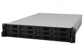 Synology Expansion Unit (Rack 2U)  up to 12hot plug HDDs SATA, SAS, SSD(3,5' or 2,5')/2xPS incl SAS Cbl