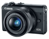 "Фотоаппарат Canon EOS M100 черный 24.2Mpix 3"" 1080p WiFi 15-45 IS STM LP-E12"
