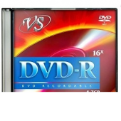 Диски VS DVD-R 4.7Gb, 16x, Slim Case 5шт.