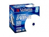 Диск DVD+R Verbatim 4.7Gb 16x Jewel case (10шт) Printable (43508)