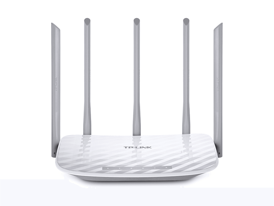 AC1200 Dual Band Wireless Gigabit Router, 867Mbps at 5GHz + 300Mbps at 2.4GHz, 802.11ac/a/b/g/n, 5 Gigabit Ports, 4 fixed antennas
